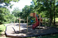 playground with slides and swing set