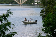 Boat Fishing on Lake Taneycomo