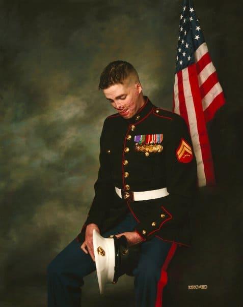 "Corporal Aaron P. Mankin, USMC (Ret), ""A hero worth listening to."""
