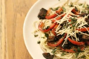 Meaty Portabella Pasta