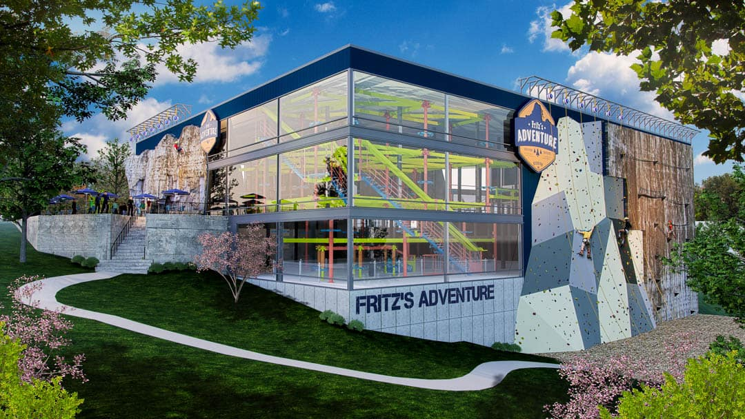 Artists Rendition Of Fritz S Adventure Scheduled To Open In Branson During The Summer