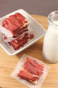 SIX Red Velvet Cheesecake Brownies