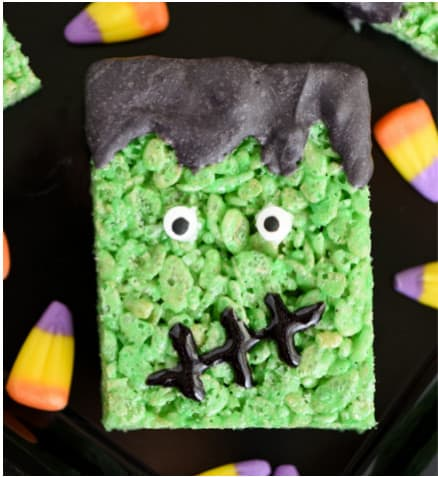 Frankenstein Rice Krispie Treat