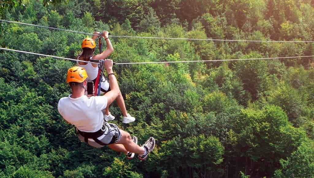 Zipline fun in the Ozark Mountains