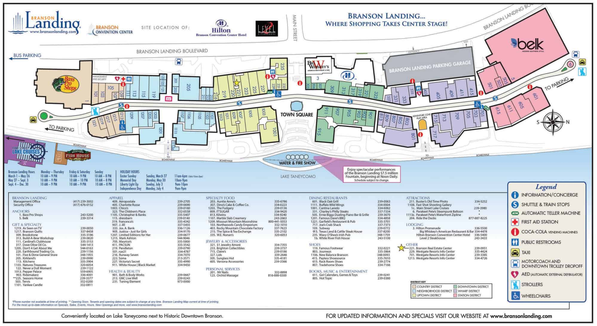 Branson Shopping Branson MO - Branson tourist map