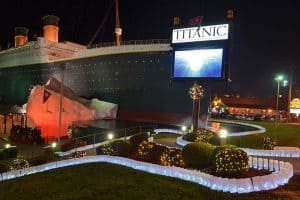 Titanic Museum Attraction lights your way!